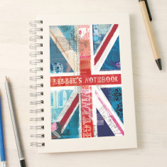 Personalised Union Jack notebook