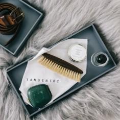 Wa's Objects rectangular tray in grey