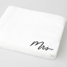 Mrs Embroidered Bath Sheet