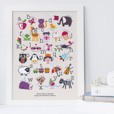 Personalised children's alphabet art print