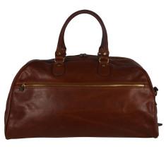 Vinci leather duffel bag in brown