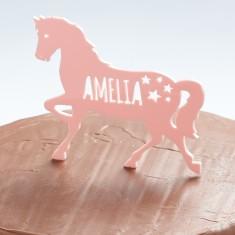 Personalised Horse/Pony Birthday Cake Topper