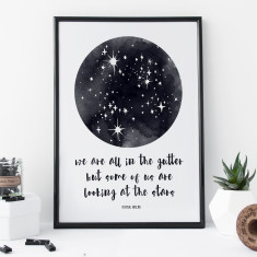 Oscar Wilde Star Print