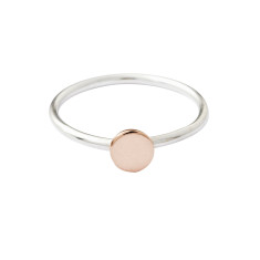 Gold circle stackable ring