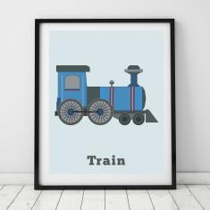 Kids Train print