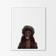Baby Monkey Nursery Art Print