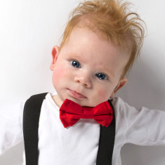 Mr Oscar baby and toddler bowtie and suspender set