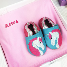 Personalised Unicorn Shoes & Blanket Gift Set