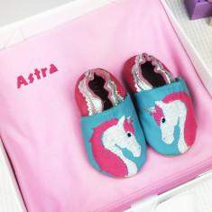 Personalised Unicorn Shoes & Blanket Gift Set