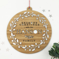 Mirror Wreath Personalised Family Wall Hanging