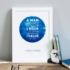 Famous Darwin quote print