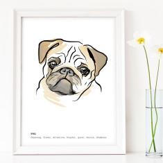 Pug Art Print