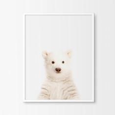 Baby Polar Bear Nursery Art Print