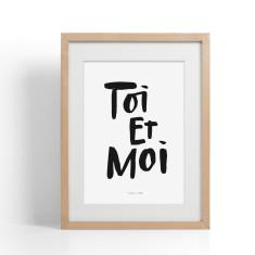 Toi Et Moi Brush Lettering Print