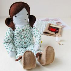 Make Your Own Christmas Doll Pyjamas Kit