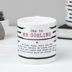 Ryan Gosling Poem Bone China Mug