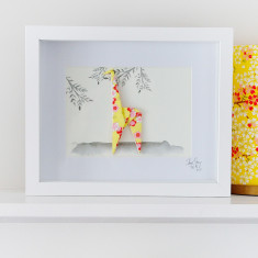 Giraffe Framed Origami Artwork