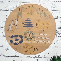 Nursery numbers & counting bamboo wall hanging
