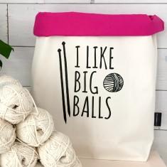 I Like Big Balls Knitting Bag/Yarn Bag