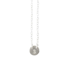 Mini circle I.D necklace