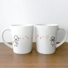 Love Bubble couple's coffee mugs (set of 2)