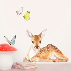 Little Fawn and Butterflies Wall Stickers