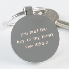 Personalised Engraved Key To My Heart Keyring