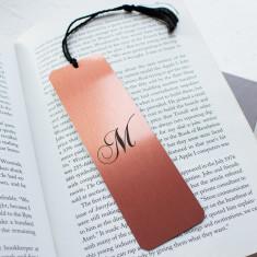 Personalised Brush Copper Metal Bookmark