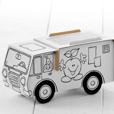 Calafant cardboard mobile farmers market