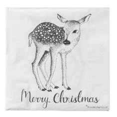 Merry Christmas deer serviettes (set of 20)