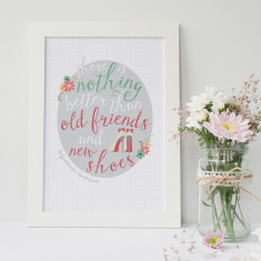 Personalised shoe lovers friendship art print