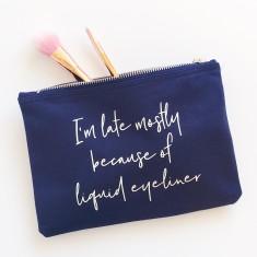 Liquid eyeliner makeup bag
