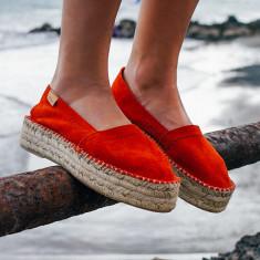 Alohas Red Platform Espadrilles