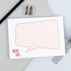 Speech Bubble Personalised Notepad