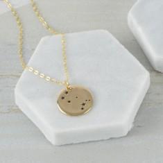 Gold Zodiac Constellation Necklace