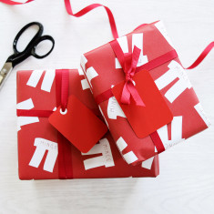 Christmas mince pi gift wrap set