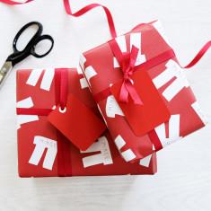 Christmas mince pi gift wrap set
