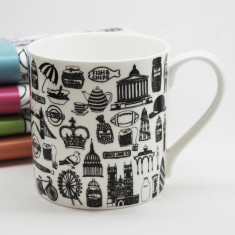 Illustrated British mug