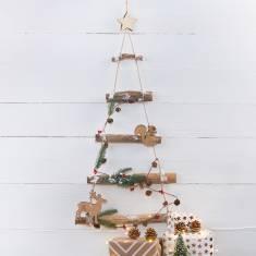 Hanging Woodland Christmas Tree