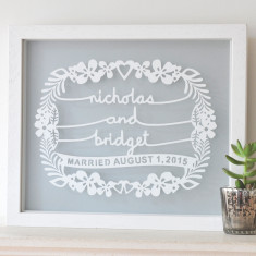 Personalised Wedding Gift Papercut