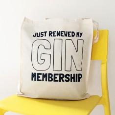 Gin membership tote bag