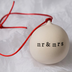 Mr And Mrs Ceramic Bauble