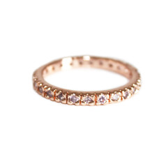 Cubic zirconia eternity ring in rose gold