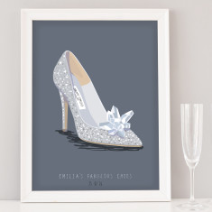 Custom Wedding Shoe Illustration Print