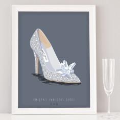 Custom Wedding Shoe Illustration Print