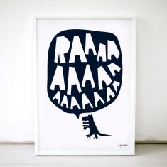 RAAAAA dinosaur poster