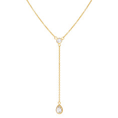 Sofia delicate drop necklace with green amethyst
