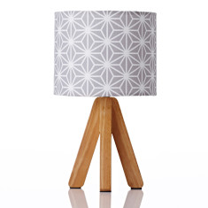 Tipi table lamp in noko mist