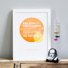 Inspirational Galileo quote print