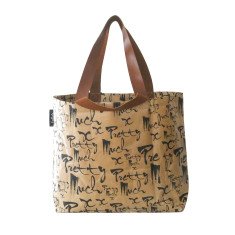 Shopper bag in pretty much print